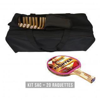 Kit raquette (sac + 20 raquettes) Sporti France Fighter