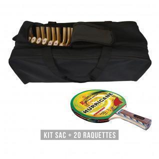 Kit raquette (sac + 20 raquettes) Sporti France Hurricane