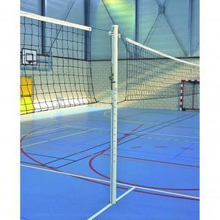 Poteau volley central alu scolaire cabestan sans fourreaux Sporti France