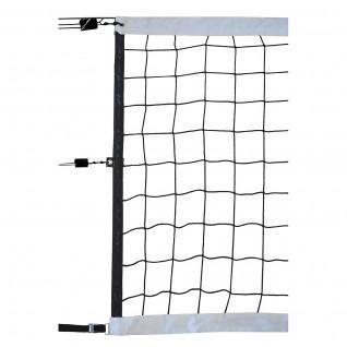 Filet volley compétition 9.50x1M PP tressé 4mm simple maille 100 câble acier Sporti France