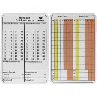 Cartons pour annotations Arbitre Handall Erima