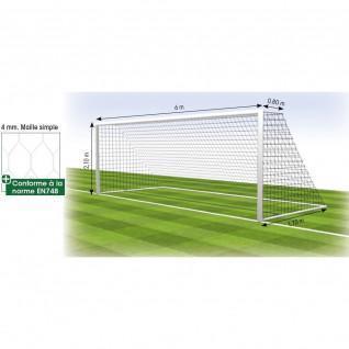 Filet football à 8 but fixe 4 mm MS 120 hexagonale Tremblay (x2)