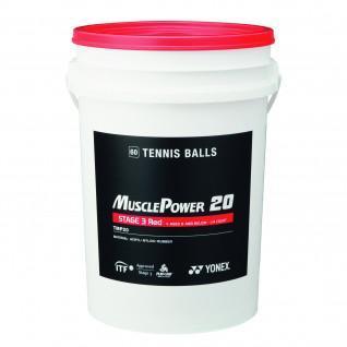 Baril balles tennis Yonex TMP-20 x60