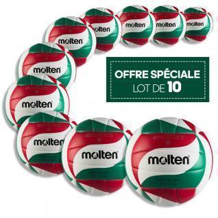 Lot de 10 ballons d'entraînement Molten BVL-V5M2000-L