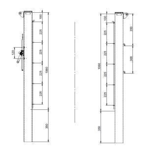 Poteaux de tennis ronds, amovibles - 90 mm Carrington